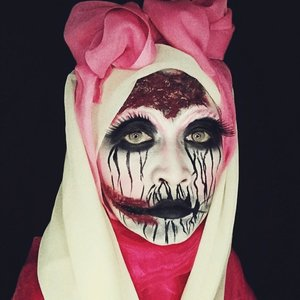 #kbbvmakeupcollaboration  #kbbvghosttown  #atomcarbonblogger  #facepainting  #makeup #halloweenmakeup #starclozetter  #clozetteid  #makeupjunkie  #faceoftheday