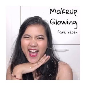 Muka glowing tapi ga bikin sakit mata! Even better, ini pake produk drugstore! .. Deets:@keepcool_global keep cool and shine mist@getthelookid infallible fresh wear 24h@thebodyshopindo 2in1 gel liner as eyebrow@mybeautypediaid hey cheek palette#maybellineindonesia master chrome highlighter@arra_beauty lip matte......#clozetteid #jenntanmakeup #makeuppemula #tutorialmakeupvideo #tutorialdandan