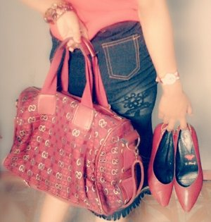 It's not about brand but it's about as comfortable with i wear #shoeslover #COTW #ClozetteID #red