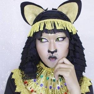 Ayo lihat perubahanku menjadi Bast si Feline Goddes di YouTube Channel-ku ▶#NYXCosmeticsID #BigThing #TeamIniVindy #NYXBigThing#ClozetteID #ClozetteHalloween