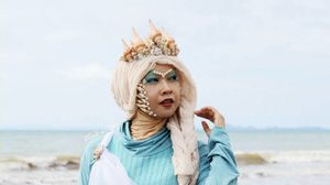 Amphitrite the Sea GoddessVideo keduaku untuk @nyxcosmetics_indonesia NYX Big Thing Makeup Challenge dan aku memilih Mbak @inivindy sebagai mentorku! 🐚🐚🐚 Videonya bisa ditonton di YouTube Channelku ▶#NYXCosmeticsID #BigThing #TeamIniVindy#ClozetteID #clozettehalloween