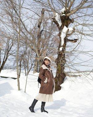 Daun-daun gugur tinggalkan ranting yang sepi dan sebatang rindu yang tak tereja.  #kotakkatapuitika #jejaksajak #nyarispuitis #clozetteid #traveling #Niigata #Japan #Snow