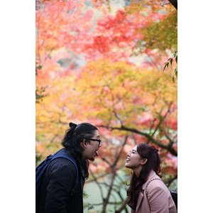💑🍁 📸: @nassa.d  HuboyWaifuTravelJournal #HuboyWaifuInJapan #HuboyWaifuJalanJalanJapan #ClozetteID #Lifestyle #Travel #Arashiyama #Kyoto #Japan