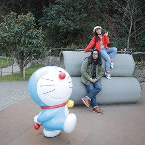 Nobita, if you meet us, you'll be in double danger. We are more dangerous than Giant 😝  #ClozetteID #Traveling #fujikofujio #Tokyo #Japan #Doraemon