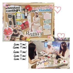 Super fun part. Making vision moodboard. Me, @gabbypali , and @yanitasya created a vision moodboard about how to be a beautiful woman from inside and outside #UMETime . . . @kawaiibeautyjapan  @shinzuiume_id  #shinzuiume #shinzuiumebloggergathering #clozetteid  #beautyblogger