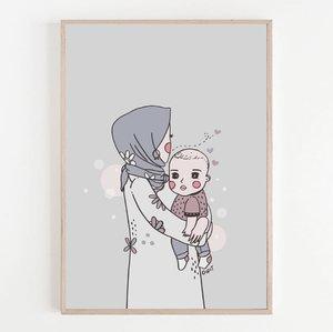"""""""Ibu & Semesta""""Gemes yaaaah 😍😍😍😍Illustration by @herditapatriani @karyatibbyMakasih tante Didit! Ini mah buat jadi kado lahiran juga bisa yah. Tonenya itu loh requestnya ibu, luve bingits 😘❤️________________#galasemesta#ibudansemesta#illustration#doodling#karyatibby#clozetteid"""