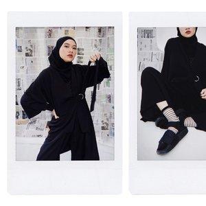 Born to shine 😜🖤Editorial self photo for @jenaharaofficialThanks for having me 🥰-#karincoyootd#clozetteid#hijabstreetwear