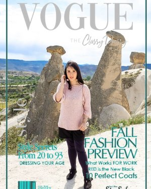 Finally, #voguechallenge accepted! Taken at Cappadocia, Turkey. Kinda miss this place so much❤❤ . #sisytravelingdiary #sakura #europe #istanbul #cappadocia #travelinladies #ootdfashion #tapfordetails