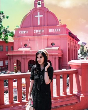 My favorite place at Melaka.The pink church 💗💗💗..Check out myculinarydiary.com for more awesome posts!#sisytravelingdiary #tapfordetails #melaka #pinkchurch #church #malacca #malaysia ......#ootd #photooftheday #beautifuldestinations #lookbook  #korea  #holland #wisata #travel #igtravel #travelgram #buzzfeed #europe #holiday  #clozetteid #paris #makeup  #photography #photooftheday #beautifuldestinations