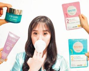 NEW BLOG POST! LINK IS ON BIO. Balik lagi ke produk @clinelleid nih. Kali ini gw cobain Clinelle Whitenup Brightening Cleanser yg memiliki tekstur seperti gel, tidak banyam busa, wangi citrus dan bikin makeup bersih! Kulit terasa lembut dan lembab. .. Selanjutnya gw pake Two -Step Peeling Pad & Refining Mask di mana dalam 1 pack berisi 2 item, yaitu peeling pad dan refining mask. Untuk produk ini, ada 4 varian produk, antara lain : Hydrating, Whitening, Purifying, Lifting & Firming. Produk ini dapat membatu menghilangkan kotoran, residu makeup, dan kulit mati pada wajah. Berfungsi juga untuk menghidrasi, mencerahkan, mengurangi jerawat, kerutan, dan garis halus pada wajah. Buat yg memasuki usia 25 tahun, wajib banget pakai ini biar mukanya tetap awet muda! ... Setelah itu, gw pakai Clinelle PureSWISS HydraCalm Cream yg memiliki tektur ringan dan cepat meresap di kulit. Kandungan phytohyaluronic acid pada cream ini memberi hidrasi pada kulit. Gw suka semua produk Clinelle yg gw dapetin krn kulit gw lbh kencang dan halus bgt, terutama setelah lake Clinelle Peeling Pad & Refining Mask @clinelleid @clozetteid #2isbetterthan1 #clinelle #clozetteid #cinelleindonesia #peelingpadrefiningmask #clinellexozetteidreview #clozetteidreview . . . . . . #selfie #cosmetic #beauty #skincare #makeup #lipstick #eyeshadow #likeforlike #tagsforlike #selfie #blowpermanent #korea #japan #sunblock #nomakeupmakeup #softlens #koreanmakeup #makeupjunkies #antiagingskincare #beautycare #antiaging