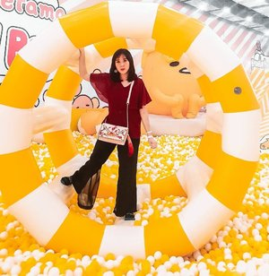 Having fun at Gudetama Ballpool at @mallofindonesia  Cuteness overload❤❤ It's for all ages and please wear socks. Come and join the fun till 16th February 2020. . . TICKET Mon- Fri : IDR 50K (45 min) Weekends/public holiday : 75k (45 min) Use socks . . #gudetama #MOI #sanrio #CNY #mallofindonesia . . . . . . . . . #ootd #photooftheday #beautifuldestinations #CNY #iphoneonly #ootdspot #jktspot #like4like  #postthepeople #airballoon #turkey  #clozetteid  #travelinladies #fblogger #lantern #cappadocia #thewanderingtourist #travel #marinabaysands #istanbul #grandbazaar