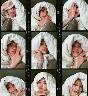 current favorite hijab 🧕🏽...#dirumahaja #dirumahterus #selfquarantine #selfquarantineandchill #dontbuyhijab #gobuyablanket #clozetteid