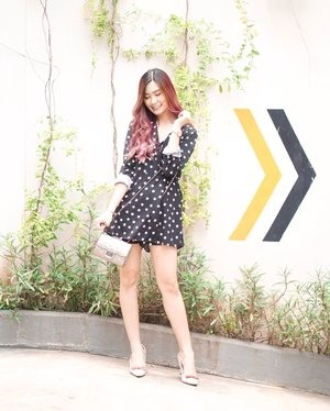 Ready for tonight?  This simple polkadot piece might suit for your date 💕 Afterall Happy Valentine Day's 🙌🏻 #clozetteid #cotd
