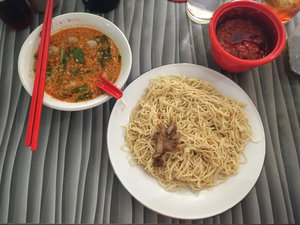 The delicious Mie Pangsit Alex, Jelutung, Jambi. 😋😋😋 #ClozetteID #StarClozetter