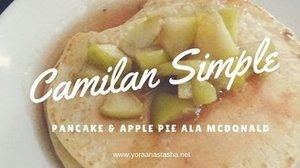 Efek dari liburan cuma staycation dirumah, mari masak! Berhasil bikin camilan simple : apple pie ala McD & Pancake! . . Buat yang mau tau resepnya, bisa klik link yang ada pada bio aku yah 😍 . . #pancake #camilan #anakjajan #yearend #clozetteid #jajan #masak #ayomasak #applepies #mcdonals #mcd #blogger #lifestyle #food #recipe #foody