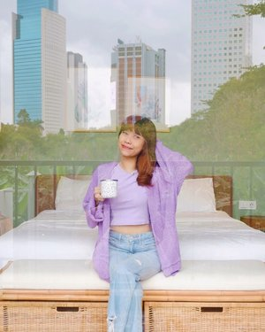 Have a good day everyone💜 Selalu happy kalo staycation di @labohemejkt dan kamarku ini yg Boho Terrace😍 Suka banget karna banyak spot fotonya hihi😍✨ Anyway, this livia outer from @vintageshopofficial 💜✨  ( tap for details ) 📸: @reginabundiarti . . . . . #whatiwore #bloggerstyle #fashion #styleblogger #fashionblogger #ootd #lookbook #ootdindo #ootdinspiration #style #outfit #outfitoftheday #clozetteid