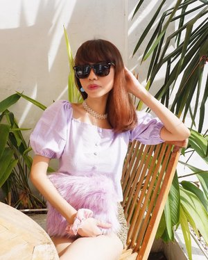 Sunny day in lilac☀️💜 ( tap for details ) . . . . . #whatiwore #bloggerstyle #fashion #styleblogger #fashionblogger #ootd #lookbook #ootdindo #ootdinspiration #style #outfit #outfitoftheday #clozetteid