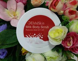 """@elsheskin MILK BODY SCRUB! 😍 .Salah satu produk yang gak pernah terlewatkan. Perawatan tubuh yang sering aku pakai dan menjadi favorit untuk menjaga kesehatan kulit agar tetap sehat, bersih dan halus karena di lengkapi dengan Vitamin A, E dan Hydrolized Milk Protein.🙆 ...... Kenapa aku suka banget sama Milk body scrubnya @elsheskin Karena scrubnya super lembut jadi mampu mengangkat sel-sel kulit mati dengan baik tanpa membuat kulit terasa sakit, wanginya susu, parah enak banget bikin rileks dan isinya banyak banget pokonya worth it dan sangat recommended! 💕👌 .. You can get 10% discount using my code """"SquadREVA"""". Lumayan kan jadi tambah lebih hemat 🎁💳🙈💕... .. #ScrubItOff #ElsheskinMilkBodyScrub #MilkBodyScrub .#RangerRatjun #ClozetteID #Beautynesia #beautyrangerid #beautychannelid #indonesiabeautyblogger#ElsheskinReview #inialasankamuwajibpakai  #elshesquad#squadreva #love"""