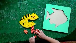 SID's version. He had fun with it � . . #HappyMom #family #playidea #kids #montessori #idebermain #parenting #homeschooling #mommyblogger #kidsofinstagram #kecerdasanmajemuk #woodenpuzzle #montessoridirumah #montessoripuzzle #fish #clozetteID