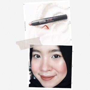 Just posted my thoughts about @makeoverid Color Stick Matte Crayon in the shade Blake on my blog. Link on my bio ya! Happy reading ❤️ #makeoverid #clozetteid #makeupreview