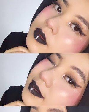 Grudge makeup look inspired by @tasyafarasya hehe #clozetteid #beautyenthusiast  #beautybloggerindonesia #grudgemakeup