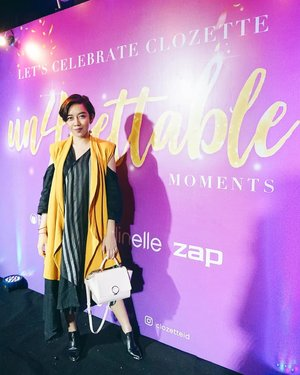 Attended @clozetteid 4th Anniversary last monday. The dress code was: your favourite fashion icon. And voila me trying to dress like @ayladimitri hehe. What a great event, keep doing great things Clozette, I'm proud to be one of your blogger. Thank you so much for having me and the goodie bag of course. Consist of girl's most favourite items from: @ClozetteID @PondsIndonesia @SenkaIndonesia @Jacquelle_official @zap_beauty . . . #ClozetteID #ClozetteUn4gettable #mood #fashion #art #fashionpeople #fashionpeople #fashiondesigner #fashiondesignerindo #fashiondesignerslife #ootd #ootdindonesia #ootdindo #fashionblogger #blogger #bloggerstyle #fashiondiaries #lookbookindonesia