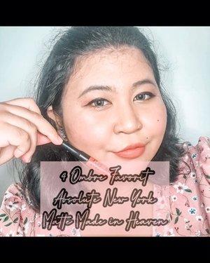Versi lengkap ombre favoritku dari @absolutenewyork_id Matte Made jn Heaven. Kamu suka yang mana nih?.Liquid lipstick ter-worth yang harus kamu punya di 2020 ini pokoknya. 🥰. .#lipstickoftheday #lotd #lipstick #lipsoftheday #mattelipstick #mattelips #ombrelips #motd #makeupoftheday #makeup #selfie #selfietime #clozetteid #balibeautyblogger #beautiesquad #bbbxany #absolutenewyork #absolutenewyorkid #mattemadeinheaven .#vinaswatches #vinasaysbeauty #vsbxANY