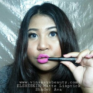 Boo!Swatch @elsheskin Matte Lipstick! Me got 2 shades, Ava and Adora. I love the formula,  so light but full coverage. Long lasting all day.Full review on my blog. Click link on my bio!#vinasaysbeauty #vsbxelsheskin #elsheskin...#mattelipstick #clozetteid #makeupoftheday #faceoftheday #bigsize #tannedskin #lipswatch
