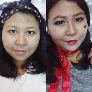 Terkadang aku takjub sama the power of makeup. Makeup bisa mengubah wajah sesuai dengan keinginan kita. Bagaimana pun susahnya, pasti bisa. 👻  Untuk Ci Shanty aku mau request buat video tentang daily dan night skincare donk untuk 25 tahun ke atas. 😁  Buat kalian yg kena tag, yuk ikutan!  #shantyhuanggiveaway  #lookbyvina . . . #makeup #makeupoftheday #makeupfreak #makeupgeek #fotd #faceoftheday #lookoftheday #lotd #harleyquinn #beforeandafter #beforeandaftermakeup #clozette #clozetteid