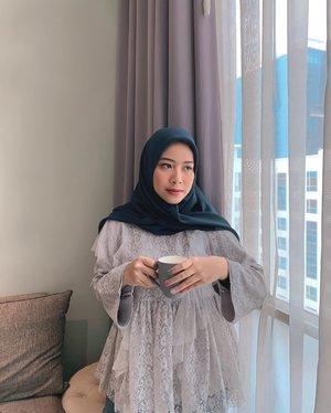 Selamat hari senin 🤍 — top by @hijabchic (as always) #ClozetteID
