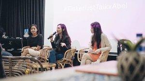 Hosting #tinkerlusttalkxabel at @kinosaurusjakarta . Thank you @abellyc !! . . #tinkerlustid #event #talkshow #girltalk #beauty