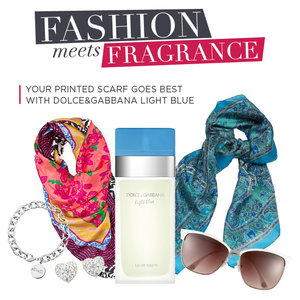 Your Printed Scarf Goes Best with Dolce&Gabbana Light Blue