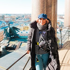 From the top of St.issac church, St.petersburgh . #throwback #rusia #stpetersburg #clozetteid #girlpower #womanpower  #worldtravel #worldcitizen #traveler #travelblogger #travelspot #instagram #instagramable #lostinthecity #throwback #womantraveler #fashioncolours #fashionstyle #instafashion #instatravel #aroundtheworld #travelaroundtheworld #solotraveller #dsypath #dsywashere