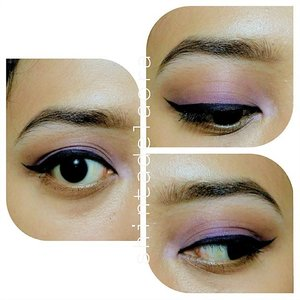 #mini #tutorial with wearable colours selection  1. just #brown in the #crease  2. and #purple in the lid  3. plus, super #wingedeyeliner  #ClozetteID #clozetteambassador #indonesianbeautyblogger #eotd #PhotoGrid #fotd #eyetutorial #byshintadelaora #purplelover #photooftheday