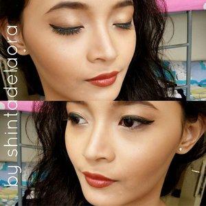 this girl rock my arts....for more, click my blog!! Link on my bio ... 🙌 #byshintadelaora #makeupbyme #clozetteid #indonesianbeautyblogger #beauty #makeup #eotd #fotd #motd #clozetteambassador #orientallook #boldlips #flawless #asian #photooftheday #instagood
