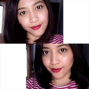 """this is like """"in a bad day, there's always a lipstick"""" 💄💋 and that saloon of course 💆  #notaquote #beautyquote #clozetteid #selfie #beautybloggerid #bourjois #Frambourjoise"""