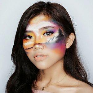 Paint🌌 . Susah loh bikinnya :' pinggang pegel wkwk tp puas bgt sm hasilnya walau yaa... brantakan2 dikit gpp lahnya . 👁 Softlens: @x2softlens I scream love (kissed) Recreate @lanceaguas ❤👏 #indobeautygram #indobeautyvlogger #Indobeautyblogger #openendorse #indonesianfemaleblogger #likeforlike #lfl #endorsement #jakartabeautyblogger #vloggerjakarta #beautyvloggerjakarta #makeup #beautynesiamember  #bvloggerid #beautysquadid #ivgbeauty #bunnyneedsmakeup #indobeautysquad @bunnyneedsmakeup @indobeautysquad @ragam_kecantikan @tampilcantik #tampilcantik #clozetteid @makeup_clips #makeupclips @tips__kecantikan #tutorialmakeuplg #100daysofmakeupchallenge #100daysofmakeup @100daysofmakeup #pictureperfect #underratedmuas