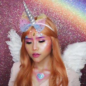 Unicorn nyasar😂✨💕 Tutorial nya besok yaa🖤 . . @bunnyneedsmakeup @indobeautysquad @indovidgram @indobeautygram @ragam_kecantikan @tampilcantik @tips__kecantikan @100daysofmakeup @underratedmuas @undiscovered_muas @featuremuas @makeupgalss #100daysofmakeupchallenge #indobeautysquad #clozetteid #tampilcantik #makeup #halloweenmakeup #unicornmakeup #makeupideas @nyxcosmetics_indonesia #BringOutTheBOO