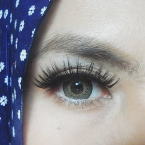 Yes, love this big lashes. It's @deyekoid Siti Liza (Asmara). Bought it few days ago and got 2 pairs in 1 box with one pair price! Reallly something 😜 #bbloggers #eotd #eyelashes #clozetteid #clozettedaily #wingedeyeliner #natural #eyes