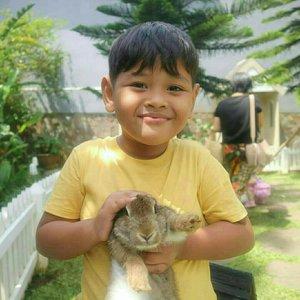 Happy banget pertama kalinya bisa gendong kelinci ❤