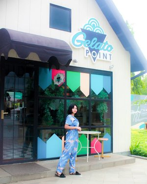 Upgrade my mood with two things : a jumpsuit pattern and fresh gelato � . . . . . . . . . . #OOTD #fashionstyle #cuteplace #hangoutplace #clozetteid