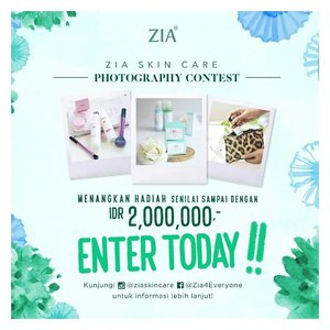 @ziaskincare is holding #ziaphotographycontest . Simply upload your healthy skin look using Zia Skin Care and get the chance to win their prize worth up to Rp 2 million . . #sbbxziaskincare #ziaskincare #zia #blogger #beautyblogger #clozetteid #indonesiablogger #indonesiabeautyblogger #beautybloggerindonesia #bloggerindonesia #beautybloggerid #sbybeautyblogger #surabayabeautyblogger #beautybloggersurabaya #bloggersurabaya #surabayablogger #sbyblogger #bloggerceria #bloggerceriaid #bloggerperempuan