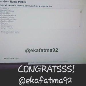 Congrats @ekafatma92 ! You are the winner of #KhansamandaBdayGiveaway dan kamu berhak mendapatkan hampers makeup dari aku!  Silahkan DM data diri kamu ke instagram aku yaa... Notes : Pemenang hampers ini dipilih secara random via web miniwebtool.com . Jadi biar adil heheheh ------------------- Gue memutuskan untuk pilih 1 pemenang hadiah hiburan berupa skincare yaitu @devinadev1909 ! Gue pilih pemenang hiburan ini karena akun @devinadev1909 ga berhenti like post gue sampai bawah dan komen2 di foto lama hahahaha.. selain itu dia juga sampai ngegrid bukti subscribe dan giveaway ini hahaha.. selamat yaa! Kirim data kamu juga ke dm ku! ----------------------- Gue akan adain giveaway lagi edisi hari ibu! Stay tune yaa! Gue ga tau bakal adain di ig atau youtube yang jelas pantengin terus sosial media gue luvvss♡ akan banyak giveaway lain untuk kalian penggila makeup dan skincare♡  #clozetteid #khansamanda #deletesoon