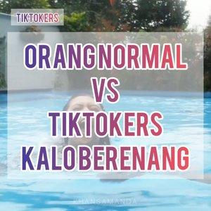 Orang normal vs tiktokers kalau berenang..🤣🤣Well..Ini sebenernya gue vs sepupu gue kalau berenang wkwk Gue ga berenang berenang.. foto foto doang wkwkwkwkwk.................#clozetteambassador#ClozetteID#khansamanda#tiktok#tiktokindonesia#tiktokindia#explore#explorepage #foryou #swimming