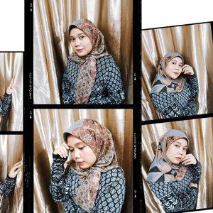 Day 4 Eid Mubarak make me creative at home😁 Kyra Scarf Frosty, @heaven_lights x @kamiidea ✨Cuma 1 Scarf looh btw, tapi bisa beberapa look. So love 💖_#hlraya2020 #inlovewithhl #umrohwithhl #heavenlightscustomer #hlpremiumscarf #hlxkami #heavenlights #hlladies #eidwithhl #dirumahaja #kyrascarf #clozetteid #clozette #scarf #hijabstyle #kamiideapeople #kamipeople