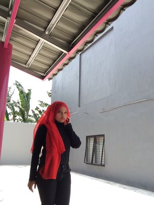 Fire red as fire as my passion  in hijab #ClozetteID #GoDiscover #TheTouchOfRed