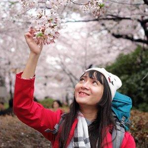 "Suka ada yang nanyain, ""Kak, itu hidungnya asli?"" Ya asli, sampai sekarang belum mampu buat oplas bhahahahahak. Dimaklumin ya, keturunan Arab jadi hidungnya offside. Btw sakura-nya cantik yaaaaa. :3 . 📸 by @puriichan . . . #travel #traveling #travelgram #instatravel #travelphoto #cKtrip #chikastufftrip #sakura #cherryblossom #sakura🌸 #sakurainjapan #chikatravelstories #cKjapantrip #japantrip #japan #clozetteid #clozetteidgirl #fashion #instafashion #chidorigafuchi #chidorigafuchipark #tokyo"