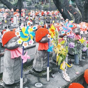 Cute Jizo statues at Zojoji temple (a temple near Tokyo Tower). Jizo statues are colorfully decorated with wool hats and windmill toys, as the memory of children who have passed away before their parents. . . . #clozetteid #japantravel #japan #tokyo #zojojitemple #japanguide #ggrep #BigDreamerInJapan #abmtravelbug #japanculture #japanloverme #travelblog #traveler #fbloggers #bbloggers #東京 #旅行ブロガー #旅行 #可愛い #여행 #여행스타그램 #일본 #도쿄