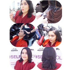 [BEFORE & AFTER] Proses #SELFIECOLOR di  @irwanteamhairdesign yang cukup singkat dan ga pake ribet : ✅ Pemilihan warna ✅ Proses toning ✅ Cuci + Blow .  And FINISH.. #SELFIECOLOR bisa menghemat waktu 50% dibanding hair coloring. Baca review lengkap nya di www.beautyasti1.com atau klik link yang ada di bio 🌍 . . . Hairdresser : Mas Tri Treatment : #SELFIECOLOR  Salon : Irwan Team Gandaria City . . . . #ClozetteID #ClozetteIDReview #IrwanTeamxClozetteIDReview #IrwanTeamReview #LorealProID @clozetteid #beauty #beautyblogger #beautybloggerid #indobeautyblogger #indonesianbeautyblogger #indonesianfemalebloggers #makeupjunkie #jakartabeautyblogger #beautybloggerjakarta #beautybloggerindonesia #beautyinfluencer #beautyenthusiast #instagood #instadaily #bloggerperempuan #instabeauty #like #like4like #follow #new #bloggerindonesia #indonesianblogger #salon