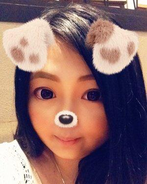 Because snapchat's filter is lyfe.. 🐶 • • • • • #selfie #snapchats #snapchatfilter #sweet #doglady #ulzzang #ulzzangstyle #beauty #blogger #bblogger #clozetteid #clozetter #beautiesID #indobeautygram #beautybloggerID #indonesianblogger #indonesianbeautyblogger #instagood